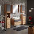 Kommode Eichefarben/dunkelgrau - Chromfarben/Eichefarben, MODERN, Holzwerkstoff/Metall (47/95/40cm) - Mömax modern living