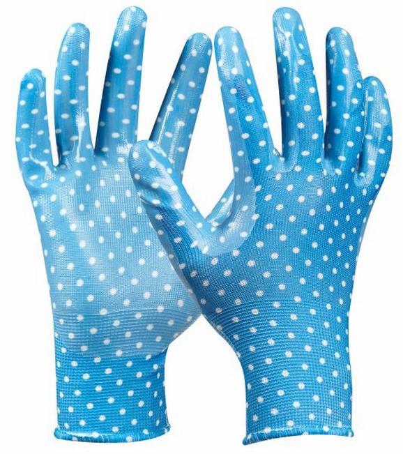 Gartenhandschuhe Tommi Orange in Blau - Blau, Textil