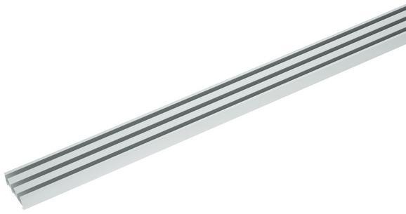 Vorhangschiene Style Alufarben - Alufarben, Metall (210cm) - Premium Living