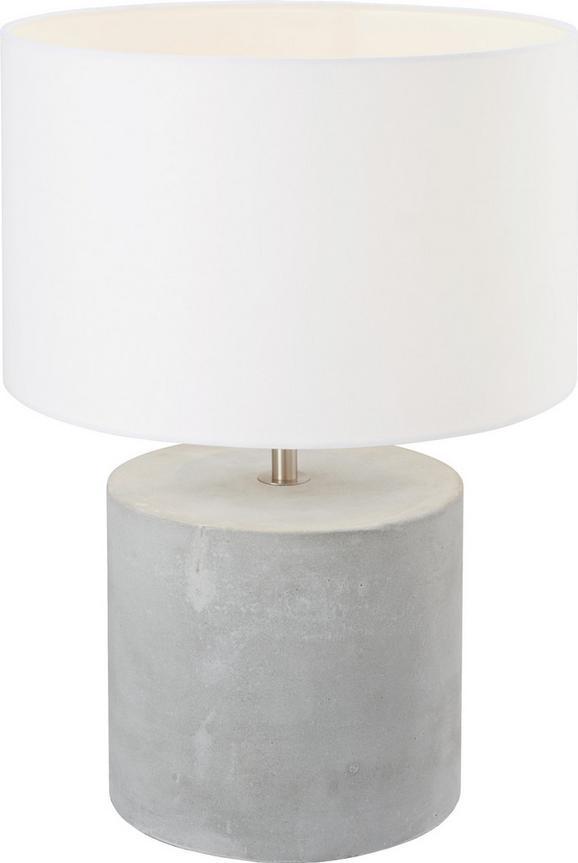 Tischleuchte Stella - Creme, Textil/Stein (32/32/44,5cm) - Mömax modern living