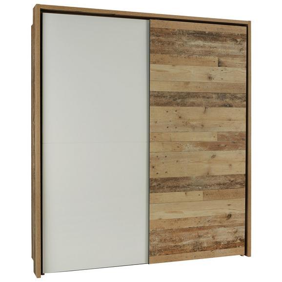 Schwebetürenschrank in Eichefarben Old Style - Eichefarben/Anthrazit, KONVENTIONELL, Naturmaterialien/Holzwerkstoff (170/195/60cm) - Modern Living