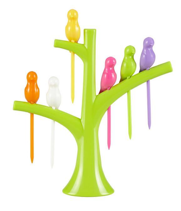 Partyspieße Birdie - Gelb/Orange, Kunststoff (15/15/3,5cm) - MÖMAX modern living