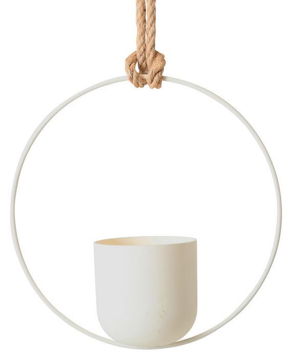 Pflanztopfhänger Pura Weiß 30x30 cm - Weiß, Kunststoff (30/30cm)
