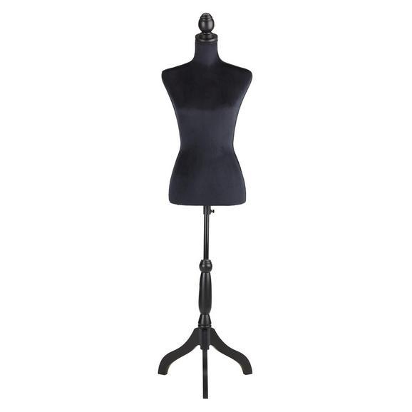 Dekobüste Velvet Schwarz - Schwarz, MODERN, Holz/Kunststoff (37/160/31cm)