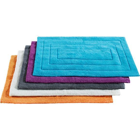 Covoraș De Baie Armin - Alb/Petrol, Material textil (50/80cm) - Based