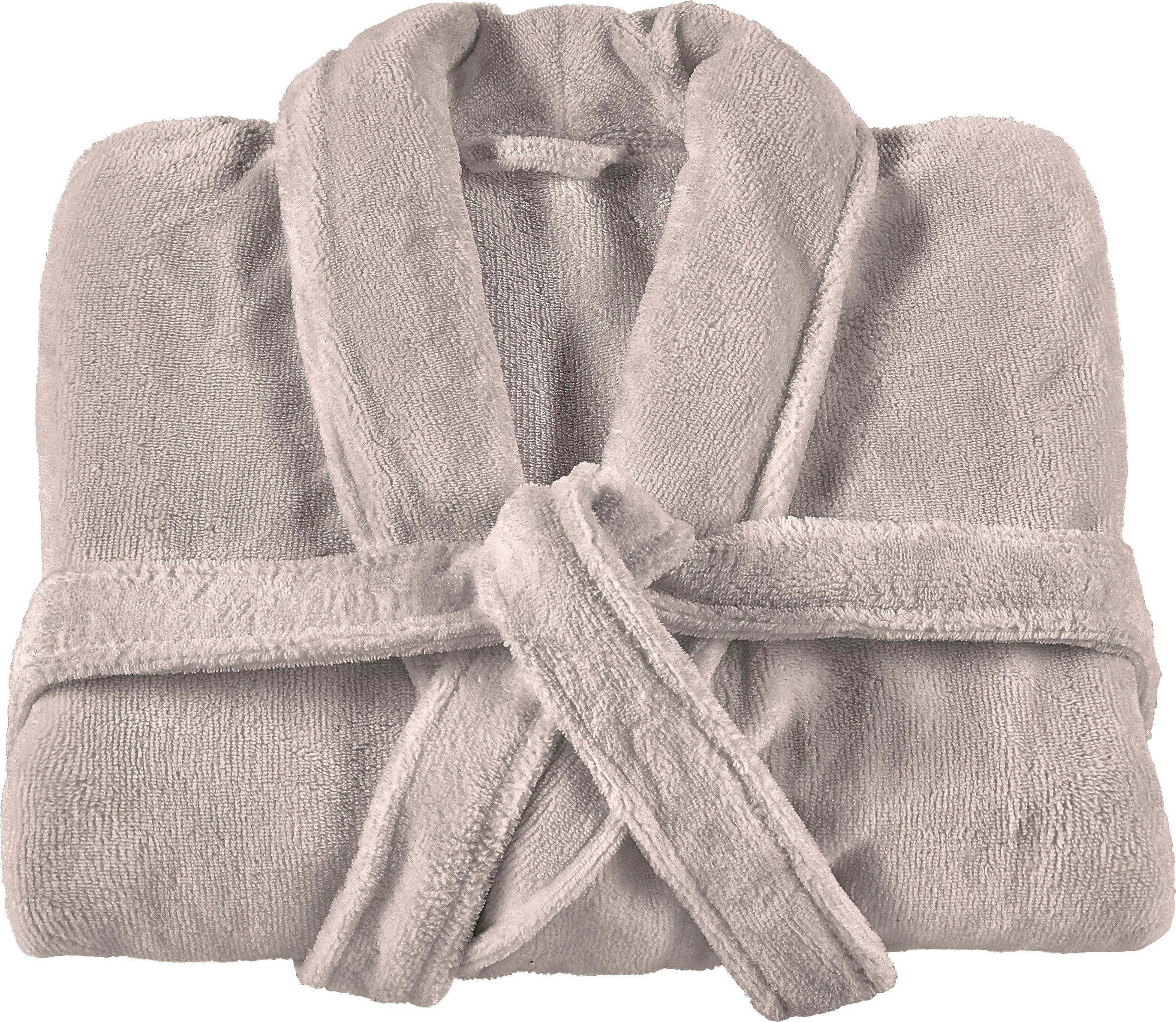 Bademantel Marcus in Hellbraun - Hellbraun, Textil (S,M,L,XL) - PREMIUM LIVING