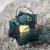 Teelichthalter Celine Ø/H ca. 18/17,33 cm - Blau/Schwarz, MODERN, Glas/Metall (18/17,33cm) - Bessagi Home