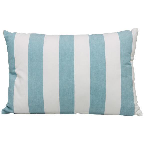 Zierkissen Blockstreif Weiß/hellblau - Weiß/Hellblau, Textil (40/60cm) - Mömax modern living
