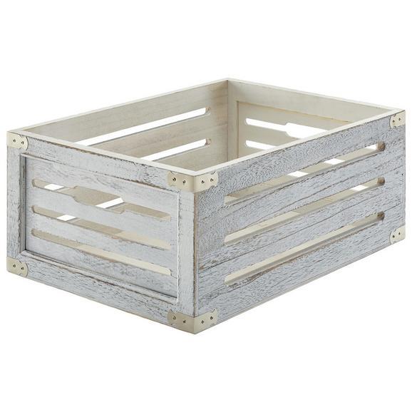 Kiste Ronny Weiß - Weiß, Holz (38/25/15cm) - Mömax modern living