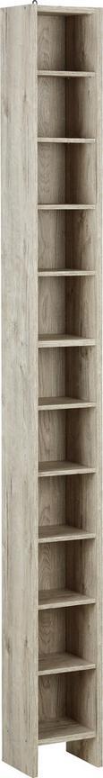 Regal Za Cd-je Hallo 2 - hrast, leseni material (20/185/17cm)