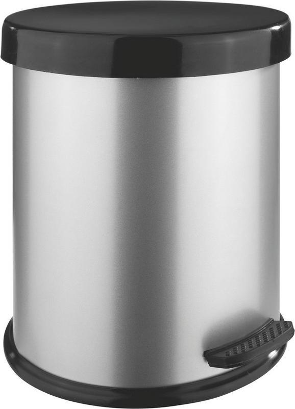 Kosmetikeimer Weissblech - Silberfarben/Schwarz, Kunststoff/Metall (4l)