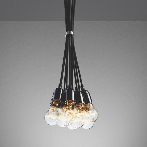 Pendelleuchte Padua 10-flammig - Schwarz, MODERN, Kunststoff (22/22/147cm) - Mömax modern living