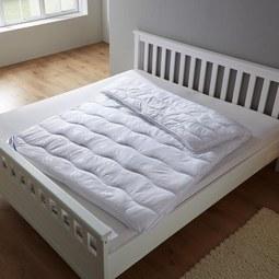 Vierjahreszeiten Bettdecke Irisette ca.155x220 cm - Weiß, MODERN, Textil (155/220cm) - Irisette