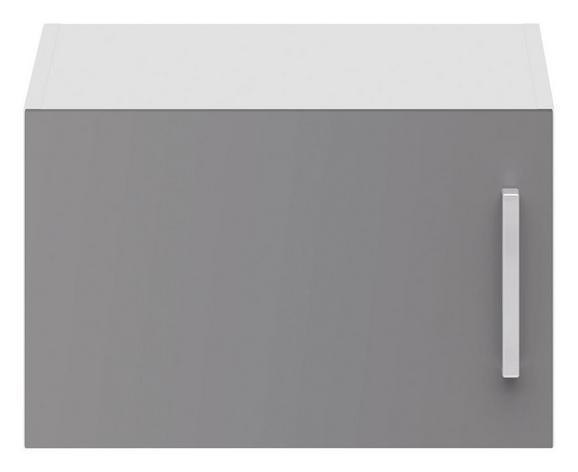 Aufsatzschrank Grau Hochglanz/Weiß - Edelstahlfarben/Grau, MODERN, Holzwerkstoff/Metall (50/32/57cm) - Modern Living