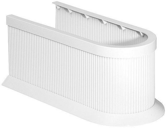 Szifontakaró 61548 Weiss    -sb- - Fehér, Műanyag (11cm)