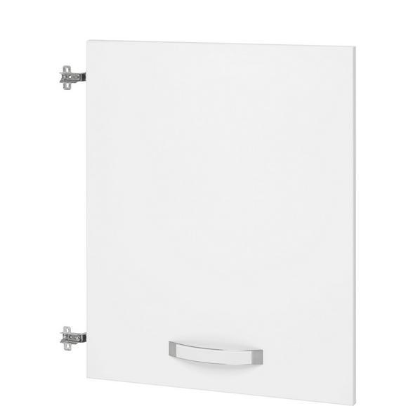 Tür in Weiß Hochglanz - Weiß, MODERN, Holz/Metall (56.6/70.1/1.8cm) - Premium Living