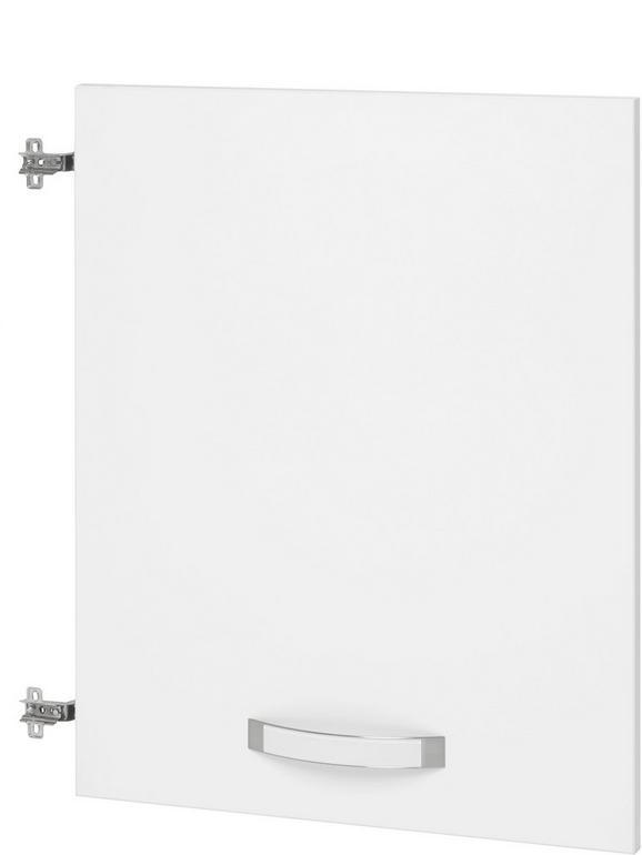 Tür Weiß Hochglanz - Weiß, MODERN, Holz/Metall (56.6/70.1/1.8cm) - Premium Living