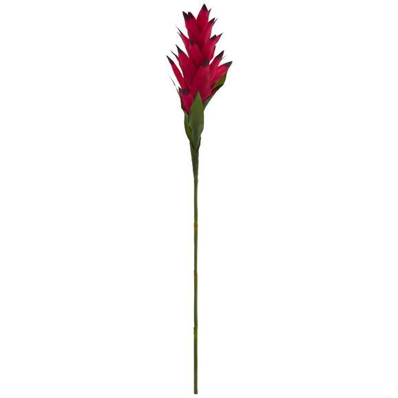 Kunstpflanze Curcumablüte I Lila/Schwarz - Lila/Schwarz, Basics, Kunststoff (90cm)