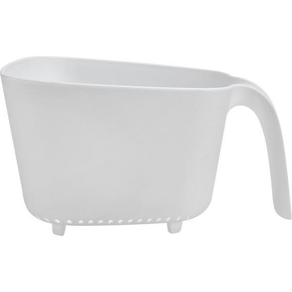 Küchensieb Elsa Weiß - Weiß, Kunststoff (23,5/21/13cm) - Mömax modern living