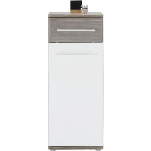 SPODNJA OMARICA SANTORIN - aluminij/črna, Konvencionalno, kovina/umetna masa (40/99/35cm) - Premium Living