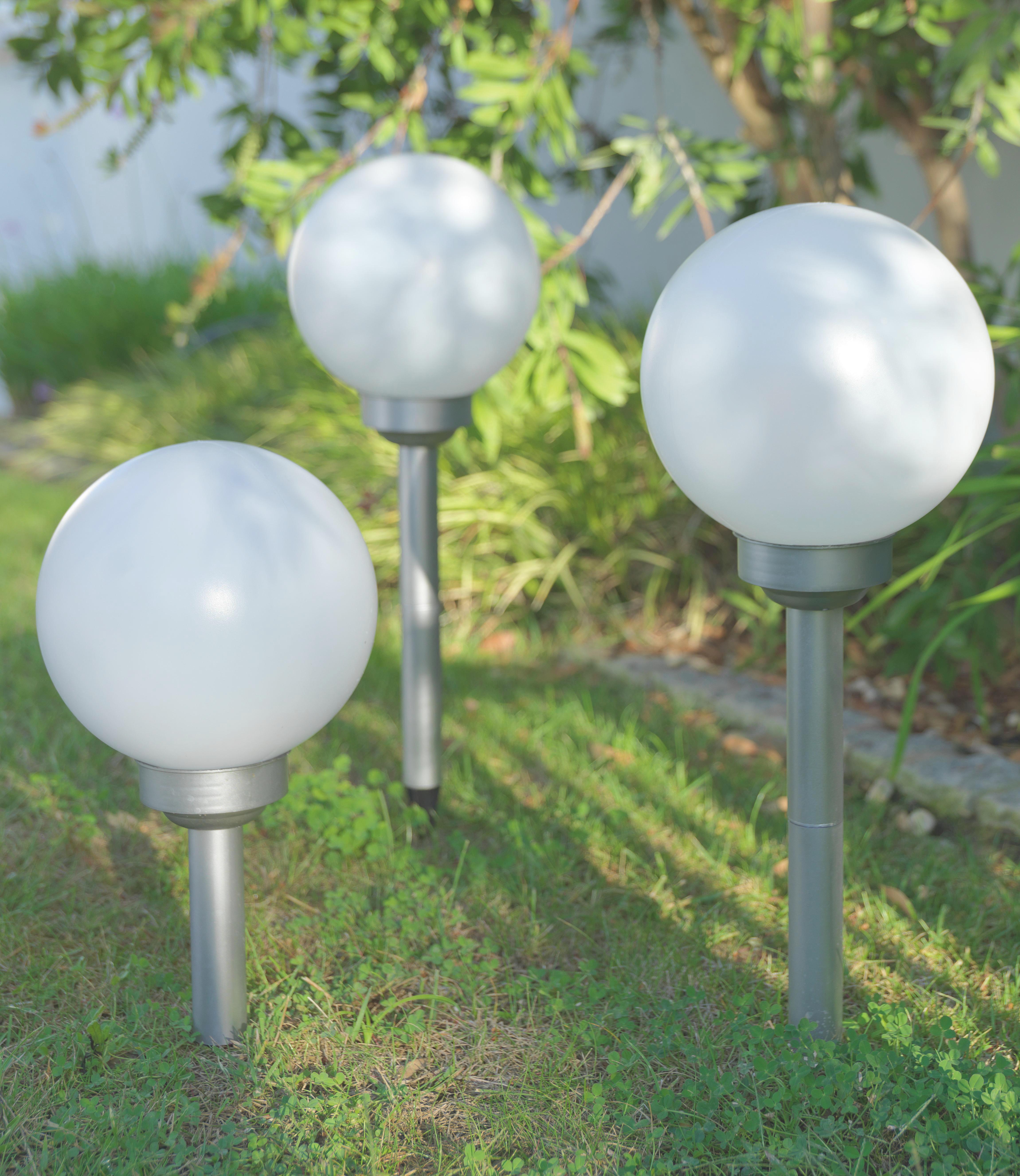 Solarleuchte Adrian, max. 0,06 Watt - Weiß, Kunststoff (20/66cm) - MÖMAX modern living