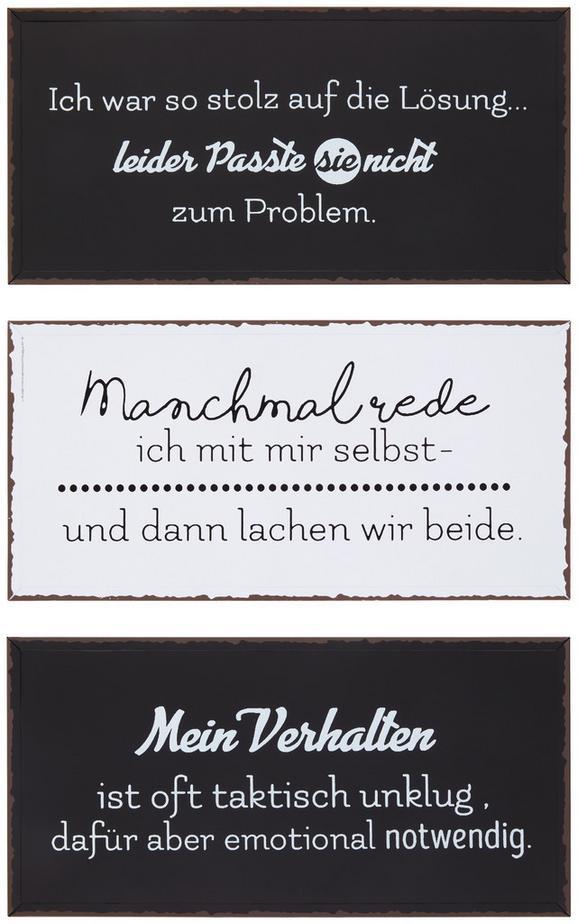 Dekoschild Emma Verschiedene Sprüche - Weiß, MODERN, Metall (40/20cm)