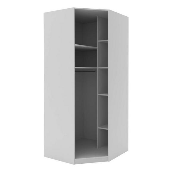 Eckschrank in Weiß - Weiß, MODERN, Holzwerkstoff (91,1/210/91,1cm) - Based