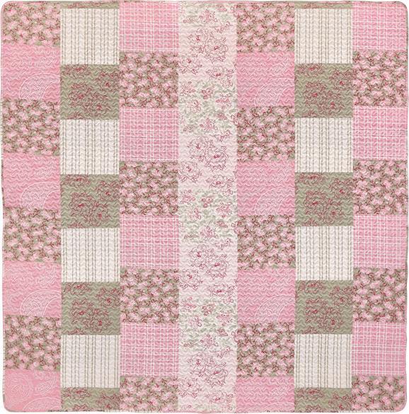 Posteljno Pregrinjalo Patch - roza, Romantika, tekstil (230/230cm) - Mömax modern living