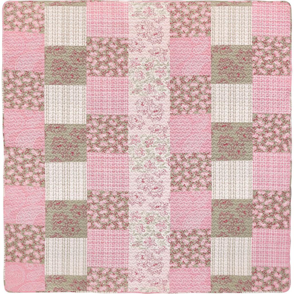 Tagesdecke Patch Rosa ca. 230x230cm