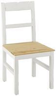 Stuhl Nicolo - Braun/Weiß, MODERN, Holz (45/90/42cm) - Modern Living