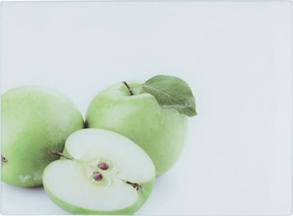 Schneidebrett Apfel aus Glas - Glas (30/40/0,4cm) - Mömax modern living