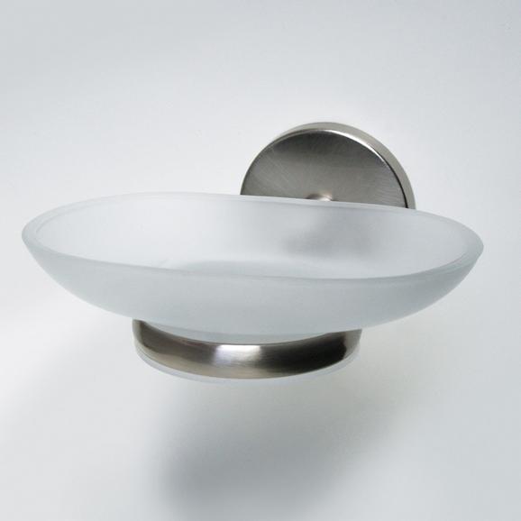 Seifenschale Weiß/edelstahlfarben - Edelstahlfarben, Metall (7/9,5/11,5cm) - Mömax modern living