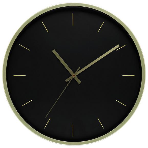 Stenska Ura Kelly - črna/zlata, kovina/steklo (50,8cm) - Mömax modern living