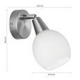 Strahler Samuel, max. 4 Watt - KONVENTIONELL, Glas/Metall (18,6/9,7/15cm) - Mömax modern living