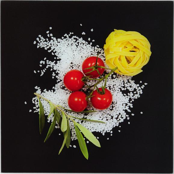Glasbild Italiana Pasta, 20x20x1,7cm - Multicolor, MODERN, Glas (20/20/1,70cm) - Mömax modern living