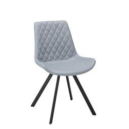 Stuhl Rieke Hellgrau Schwarz Modern Textil Metall 51 5