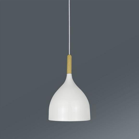Hängeleuchte Paula max. 1x40 Watt - Weiß, LIFESTYLE, Holz/Metall (17/133cm) - MÖMAX modern living