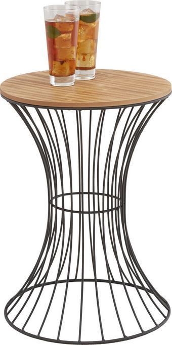Kisasztal Dexter - natúr színek/fekete, fém/faanyagok (35/49/35cm)