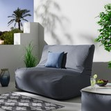 Loungesofa Kimberly - Grau, MODERN, Textil (150/85/100cm)