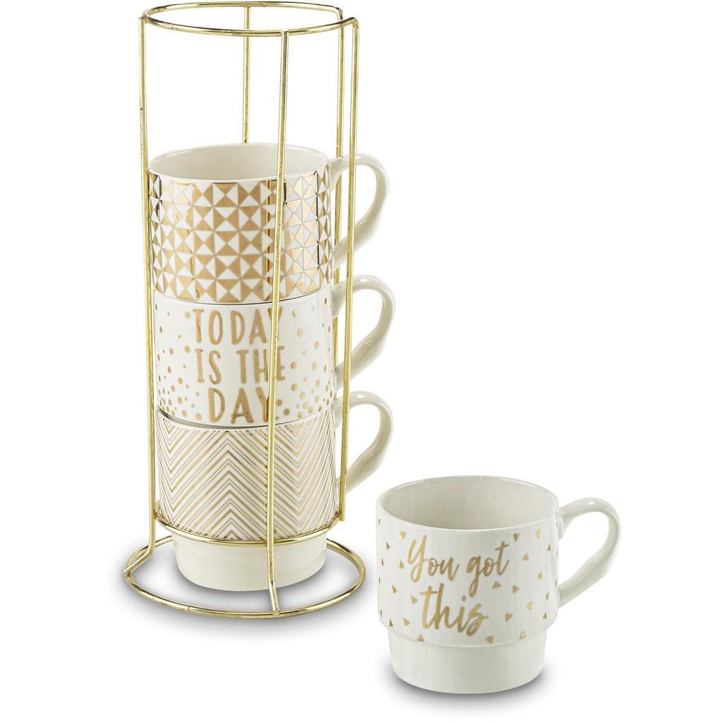 Kaffeetasse Goldy, 4-teilig mit Ständer