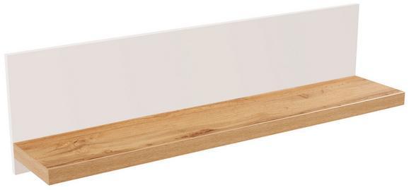 Falipolc Eleganza - tölgy színű, modern, faanyagok (135/30/21.6cm)