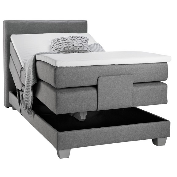 boxspringbett in grau ca 100x200cm online kaufen m max. Black Bedroom Furniture Sets. Home Design Ideas