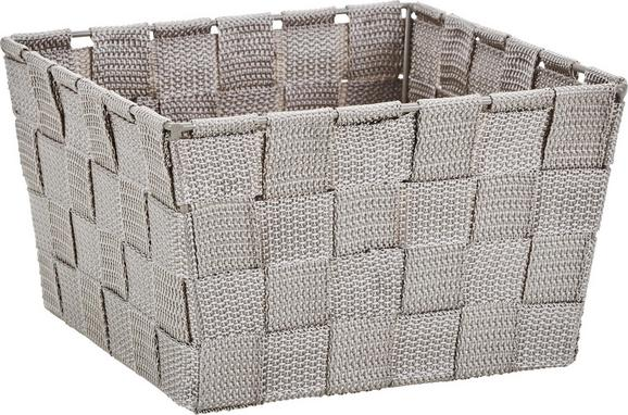 Kosár Nelly - szürkésbarna, modern, textil (19/19/11cm) - MÖMAX modern living
