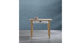 Tisch Nicolo ca.100x71cm - Eichefarben/Weiß, MODERN, Holz (100/71/78,5cm) - Bessagi Home