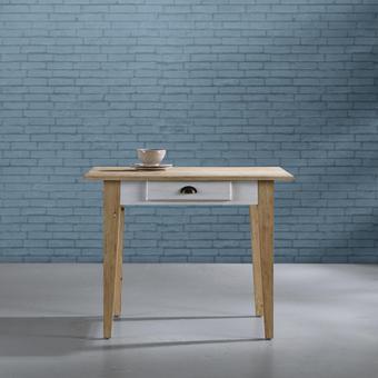 Tisch Nicolo ca.100x71cm - Eichefarben/Weiß, MODERN, Holz (100/71/78,5cm) - Mömax modern living