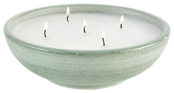 Sveča V Lončku Ian - turkizna/bela, Trendi, keramika (20/6,5cm) - Mömax modern living