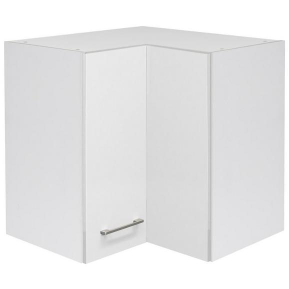 Eckoberschrank Weiß - Edelstahlfarben/Weiß, MODERN, Holzwerkstoff/Metall (60/54/60cm) - FlexWell.ai