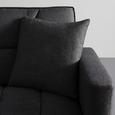 Schlafsofa in dunkel- grau inkl. 2 Kissen 'David' - Dunkelgrau/Silberfarben, MODERN, Holz/Textil (196/83/89cm) - Bessagi Home