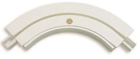 Félkörív Ge1 - fehér, műanyag (13,5cm)