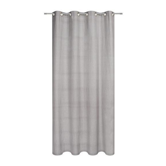 Zavesa Z Obročki Noah - 2-delni Set - sivo rjava, Romantika, tekstil (140/250cm) - Mömax modern living